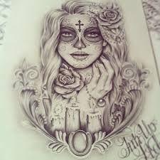 tatuagem catrina no ombro - Pesquisa Google