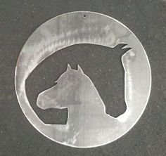 A Mare's Embrace Horse Metal Art Available for purchase in our Etsy Shop! An original design from Gunnyz Metal Art
