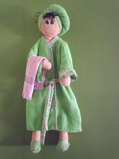 Porta papel higiênico de boneca com molde