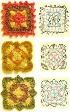 funwithfibers:    A huge and lovely assortment of granny square patterns.  Great resource for different gift ideas