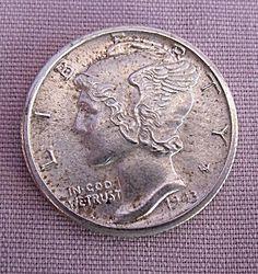 1943-D U.S. MERCURY DIME UNC DETAILS Half Dollar, Mercury, Coins, Money, Rooms, Silver