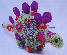 Puff the magic stegosaurus heidi bear. Wonderful blog about the work behind this stegosaurus :)