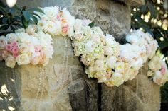 ROMANTIC MONTECITO WEDDING - flower garland
