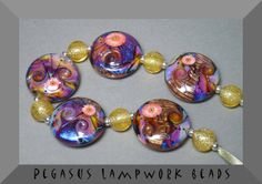 Handmade Lampwork Glass Bead Set  Razzle Dazzle  by PegasusBeads, ETSY. <3<3<3FANTABULOUS~GORGEOUS~PRETTY~ BEAUTIFUL~STUNNING MINI WORKS OF ART IN A BEAD ~ WOW<3<3<3