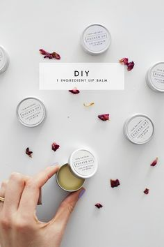 Pucker Up | DIY one ingredient lip balm