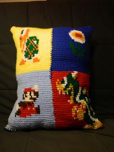 Ravelry: Tunisian Crochet Mario Cushion pattern by Another Kay Jones