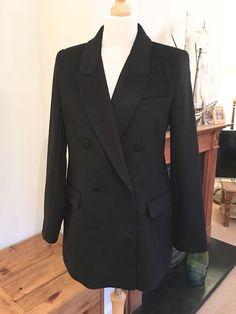 Bnwt BHS Ladies Short Mac Rain Coat Jacket BLACK 8 10  14  RRP £35