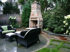 Patio Fireplace Design Ideas, Pictures, Remodel, and Decor - page 24 Outdoor Rooms, Outdoor Furniture Sets, Outdoor Living, Outdoor Ideas, Outdoor Projects, Chicago, Outdoor Fireplace Designs, Outdoor Fireplaces, English Garden Design