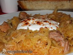 Érdekel a receptje? Kattints a képre! Küldte: LigetiK Hungarian Cuisine, Hungarian Recipes, Hungarian Food, Goulash, Meat Recipes, Starters, Entrees, Food Porn, Pork