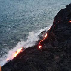 #lavaviewing war heute mein Abend Programm #hawaii #bigisland #lava #Meer #travelblogger #ocean