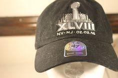 2ba3f903a Super Bowl XLVII Hat NFL Seattle Seahawks Black Cap Adjustable Denver  Broncos