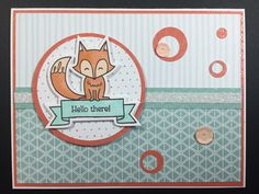CTMH-Spring Critter-Fox: CTMH Penelope, Glacier and Sorbet Fundamentals from the Whimsy assortment, White Shimmer Trim & assorted  sequins