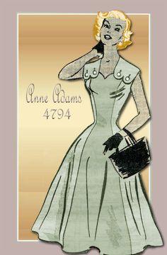 1950s Sewing Pattern Anne Adams 4794 Mail by FloradoraPresents, $23.00