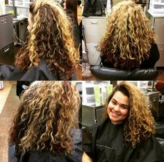 Highlights and wash&go for my classmate