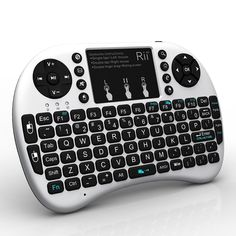 Rii Rii BT Mini Wireless Bluetooth Backlight Touchpad Keyboard with Mouse is a 92 keys, Bluetooth wireless Keyboard with Touchpad. The keyboard includes a touchpad DPI adjustable functions and built-in high sensitive smart touchpad with flip design. Keyboard With Touchpad, Mini Keyboard, 4g Wireless, Bluetooth Keyboard, Smart Tv, Smartwatch, Kodi Raspberry Pi, Amazon Fire Stick, Android Box