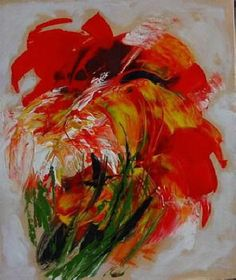 flowers abstract painting - Google zoeken