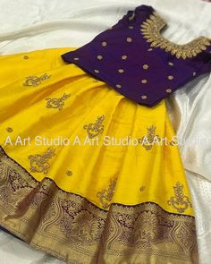 For customising your outfits - whatsapp 9133502232 . Cotton Frocks For Kids, Frocks For Girls, Little Girl Dresses, Girls Frock Design, Baby Dress Design, Kids Lehanga Design, Lehanga For Kids, Kids Dress Wear, Kids Gown