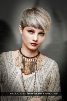 Cropped Hairstyle with Halo Fringe