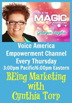 Are you a SEEKER interested in learning how to market your business in a way that invites people into the energy and difference you are in the world in a way that people immediately KNOW they would like what you've got??? If so you won't want to miss this show where Cynthia shares tips and techniques on how to create a marketing plan around these dynamic concepts.