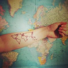 31 Incredible Map Tattoos photo Callina Marie's photos