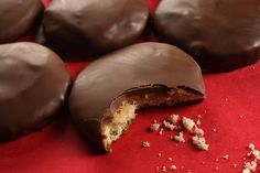homemade tagalongs. Oh my goodness. Kind of a complicated recipe but it would be so worth it.