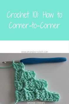 In today's Crochet 101 lesson, I'm going to teach you how to corner-to-corner. Follow along in my tutorial where who you how to make this great stitch.
