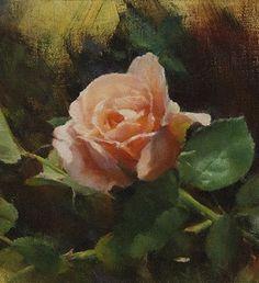 Por amor al arte: John McCartin Oil Painting Flowers, Garden Painting, Acrylic Flowers, Rose Art, Watercolor Rose, English Roses, Flower Pictures, Beautiful Paintings, Flower Art