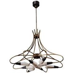 Attributed to Lumi, Eight-Light Chandelier, circa 1955