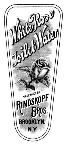 Vintage Clip Art - Rose Toilet Water Label - The Graphics Fairy