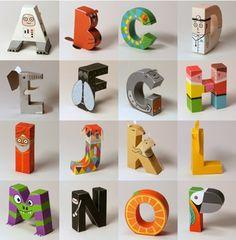http://digitprop.com/2012/07/papercraft-alphabet/