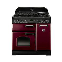 Rangemaster 84830 Classic 90cm in Cranberry & Chrome. Call 01302 638805 for prices.