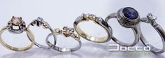 kísérőgyűrűk fehér és sárga aranyból