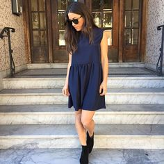 baby doll dress in midnight