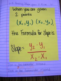 Math = Love: Algebra 1 Interactive Notebook Entries over Functions, Relations, and Slope