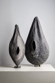 felted sculpture or vase? by Andrea Graham