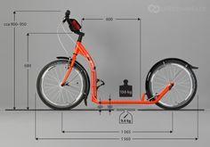 Scooter (footbike) | koloběžka – Kostka Hill Twenty 2013  > Priblizovadla.cz