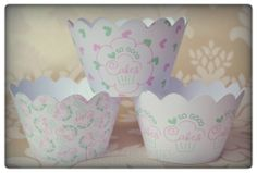 Bespoke cupcake wrappers going off to the lovely Holly at So-Good Cakes