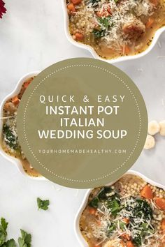 Instant pot Italian wedding soup is a warm and comforting soup for any occasion! It's quick, easy, and packed full of healthy ingredients. Serve it as a family dinner, quick and healthy lunch, or simple appetizer. Made with lots of vegetables, tender and juicy chicken meatballs, and clear chicken broth, this soup is as good for you as it is delicious! Store any extra in your freezer, and you'll be so happy to have a healing, healthy meal year round! Ground Chicken Recipes, Wedding Soup, Chicken Meatballs, Asian Cooking, Freezer, Appetizer, Instant Pot, Main Dishes, Healing