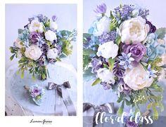 Silk Wedding Bouquets, Wedding Flower Arrangements, Wedding Flowers, Flower Bouqet, Wedding Details, Wedding Ideas, Purple Succulents, Church Wedding, Floral Designs