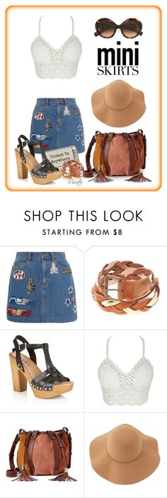"""""""I've Got A Ticket To Anywhere (And I'm Not Afraid To Use It)"""" by misartes ❤ liked on Polyvore featuring Marc Jacobs, Lipsy, See by Chloé, Sans Souci, Dolce&Gabbana, MINISKIRT and TicketToAnywhere"""