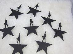 10 Die Cut Shapes Hamilton Musical by CraftWeddingSupplies on Etsy