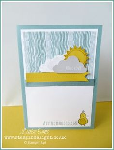 All kinds of weather with Hello Love | Stampin' Delight, Louise Sims, UK Demo | Hello Love Stamp Set, Moonlight DSP
