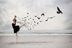 Possibly a future tattoo?? Only the dancer and birds and all in black