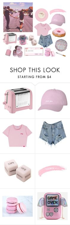 """""""baby pink"""" by cuddlingmuke ❤ liked on Polyvore featuring Dualit, Essie and Topshop"""