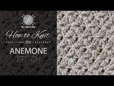 How to Knit the Anemone Stitch Sweet Stitch!!!