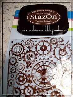 she embossed plastic sheets with cuttlebug and coloured them with a stazon stamp pad, how cool is that?