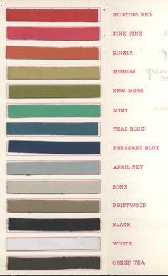 Bonnie Cashin for Coach, Spring/Summer Color Palette,1965