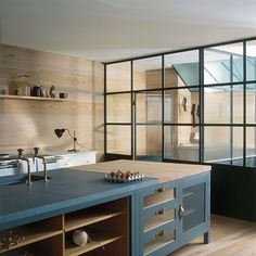 Plain English kitchen, classic lines but nice detailling and materials...