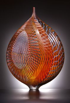 """""""Mandara"""" by Lino Tagliapietra. Shows what can be done with blown glass. Beautiful varied patterns."""