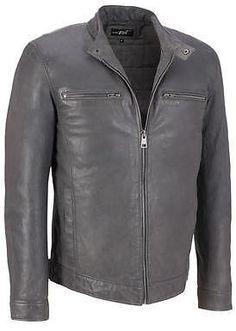 9fabaa8be44636 Black Rivet Mens Big   Tall Leather Mustang Motorcycle Jacket Mens Big And Tall  Coats